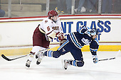 Patrick Wey (BC - 6), Brian Flynn (Maine - 10) - The Boston College Eagles defeated the visiting University of Maine Black Bears 4-0 on Friday, November 19, 2010, at Conte Forum in Chestnut Hill, Massachusetts.