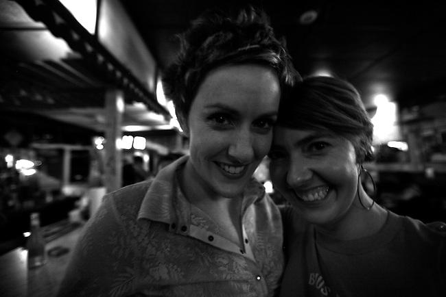 Jessica and Sarah at Grant's Lounge in Macon, Ga. May 30, 2009.