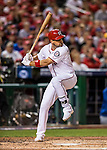 13 October 2016: Washington Nationals first baseman Ryan Zimmerman in action during the NLDS Game 5 against the Los Angeles Dodgers at Nationals Park in Washington, DC. The Dodgers edged out the Nationals 4-3, to take Game 5, and the Series, 3 games to 2, moving on to the National League Championship against the Chicago Cubs. Mandatory Credit: Ed Wolfstein Photo *** RAW (NEF) Image File Available ***