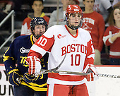 Karl Stollery (Merrimack - 7), Corey Trivino (BU - 10) - The visiting Merrimack College Warriors tied the Boston University Terriers 1-1 on Friday, November 12, 2010, at Agganis Arena in Boston, Massachusetts.