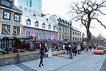 The Grand Allee just outside the walls of Vieux Quebec, Quebec City, Canada