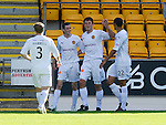 St Johnstone v Motherwell...11.09.10  .John Sutton celebrates his goal.Picture by Graeme Hart..Copyright Perthshire Picture Agency.Tel: 01738 623350  Mobile: 07990 594431