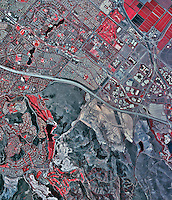 historical infrared aerial photograph of Irvine, California, 2002