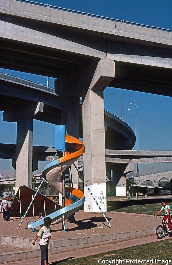 San Diego: Coronado Bridge and Chicano Park. (Photo 1977)