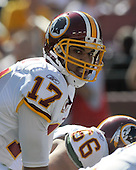 Landover, MD - October 12, 2008 -- Washington Redskins quarterback Jason Campbell (17) calls signals in game action against the St. Louis Rams at FedEx Field in Landover, Maryland on Sunday, October 12, 2008.  The Rams won the game 19 - 17..Credit: Ron Sachs / CNP