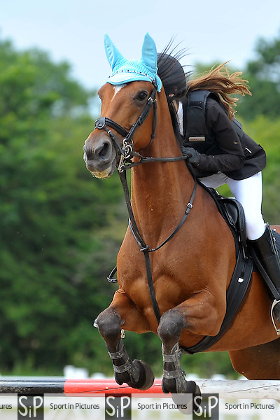 Class 3. Blue Chip Pony Newcomers. British Showjumping Junior show. Brook Farm Training Centre. Essex. 14/06/2015. MANDATORY Credit Ellie Ingram/Sportinpictures - NO UNAUTHORISED USE - 07837 394578