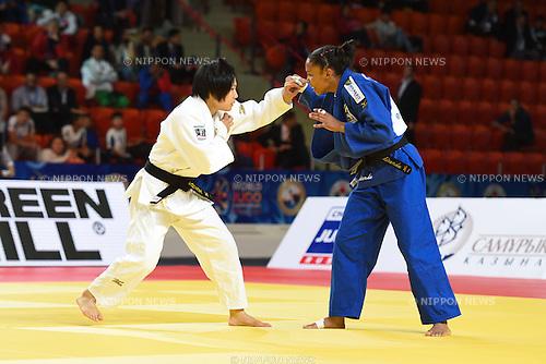 (L-R) Misato Nakamura (JPN), Erika Miranda (BRA), AUGUST 25, 2015 - Judo : World Judo Championships Astana 2015 Women's -52kg Semi-Final match at Alau Ice Palace in Astana, Kazakhstan. (Photo by AFLO SPORT)