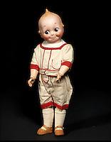 BNPS.co.uk (01202 558833)<br /> Pic: Bonhams/BNPS<br /> <br /> ***Please Use Full Byline***<br /> <br /> J.D Kestner Bisque Head 'Kewpie' Googly-eyed doll. <br /> <br /> <br /> A creepy collection of almost 100 'lifelike' dolls modelled on children has emerged for sale with a whopping half a million pounds price tag. <br /> <br /> The eerie-looking toys were made in Germany in the early 20th century as dollmakers strived to produce dolls with realistic human features.<br /> <br /> The collection of 92 dolls, which includes some of the rarest ever made, has been pieced together by a European enthusiast over the past 30 years.<br /> <br /> It is expected to fetch upwards of &pound;500,000 when it goes under the hammer at London auction house Bonhams tomorrow (Weds).