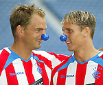 Ronald de Boer and Peter Lovenkrands launch Rangers bluenose appeal