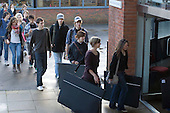 Prospective students arriving for Portfolio Day at University College for the Creative Arts, Farnham.