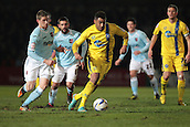 15.01.2013. Torquay, England. Torquay's Rene Howe attacks during the League Two game between Torquay United and Exeter City from Plainmoor.