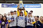 COLUMBUS, OH - MARCH 11:  West Virginia University athletes celebrate their team championship in the Division I Rifle Championships held at The French Field House on the Ohio State University campus on March 11, 2017 in Columbus, Ohio. (Photo by Jay LaPrete/NCAA Photos via Getty Images)