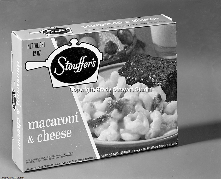 Client: Stouffer's Foods<br /> Ad Agency: Ketchum Macleod &amp; Grove<br /> Contact: Dana Gilpin<br /> Product: Stouffer's Frozen Foods<br /> Location: Brady Stewart Studio, 211 Empire Building on Liberty Avenue in Pittsburgh<br /> <br /> The family's frozen food business began in the 1940s, when customers started asking for frozen versions of the meals served in the restaurants. The Stouffers sold their company to Litton Industries in 1967, who in turn sold it to Nestl&eacute; in 1973. Nestle Foods has created a campus-like area at the headquarters in Solon, Ohio.