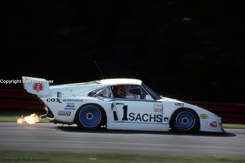 John Fitzpatrick drives a Porsche 935 during a 1981 IMSA race at Mid-Ohio Sports Car Course near Lexington, Ohio.