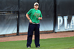25 April 2016: Notre Dame head coach Deanna Gumpf. The University of North Carolina Tar Heels hosted the University of Notre Dame Fighting Irish at Anderson Stadium in Chapel Hill, North Carolina in a 2016 NCAA Division I softball game. UNC won the game 7-6.