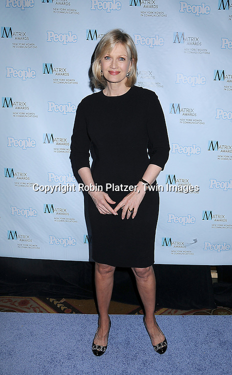 Diane Sawyer.posing for photographers at The 2008 Matrix Awards on .April 7, 2008 at The Waldorf Astoria Hotel in New York. Susan Gianinno, Anna Deavere Smith, Robin Roberts, Ruth Reichl, Linda Greenhouse, Joannie Danielides, Anne Sweeney and Diane Von Furstenberg were the honorees. ..Robin Platzer, Twin Images