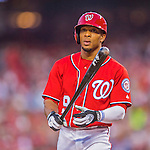 28 May 2016: Washington Nationals outfielder Ben Revere at bat against the St. Louis Cardinals at Nationals Park in Washington, DC. The Cardinals defeated the Nationals 9-4 to take a 2-games to 1 lead in their 4-game series. Mandatory Credit: Ed Wolfstein Photo *** RAW (NEF) Image File Available ***