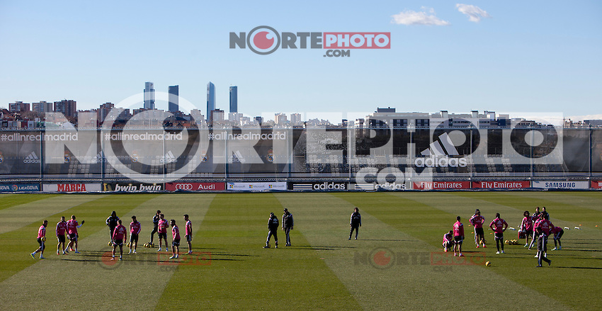 Real Madrid soccer team during a sesion training at Real Madrid City in Madrid. January 23, 2015. (ALTERPHOTOS/Caro Marin) /NortePhoto<br />