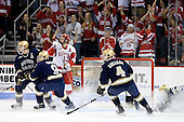 Kyle Lawson (Notre Dame - 2), Ryan Thang (Notre Dame - 9), Nick Bonino (BU - 13), Riley Sheahan (Notre Dame - 4) - The University of Notre Dame Fighting Irish defeated the Boston University Terriers 3-0 on Tuesday, October 20, 2009, at Agganis Arena in Boston, Massachusetts.
