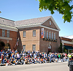 21 May 2007:  Baseball fans line the streets in front of the National Baseball Hall of Fame Museum awaiting the start of the Game Day Parade celebrating the Hall of Fame Game in Cooperstown, NY...Mandatory Credit: Ed Wolfstein Photo