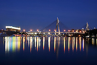 Anzac Bridge at dusk, whitebay, Sydney, Australia