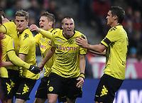 FUSSBALL   1. BUNDESLIGA  SAISON 2011/2012   13. Spieltag FC Bayern Muenchen - Borussia Dortmund        19.11.2011 Jubel nach dem Tor zum 0:1, Sven Bender , Kevin Grosskreutz , Sebastian Kehl (v. li., Borussia Dortmund)