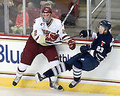 Brian Dumoulin (BC - 2), Charlie McDonald (Toronto - 23) - The Boston College Eagles defeated the visiting University of Toronto Varsity Blues 8-0 in an exhibition game on Sunday afternoon, October 3, 2010, at Conte Forum in Chestnut Hill, MA.