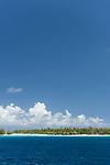 Fakarava Atoll, Tuamotu Archipelago, French Polynesia; view of Tetamanu Village near the south pass on Fakarava Atoll