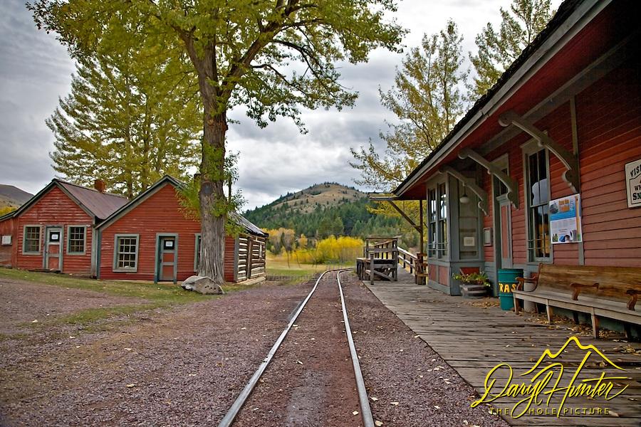 small gage railroad, Virginia City Montana