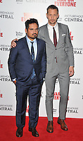 Michael Pena and Alexander Skarsgard at the &quot;War On Everyone&quot; UK film premiere, Picturehouse Central, Corner of Shaftesbury Avenue and Great Windmill Street, London, England, UK, on Thursday 29 September 2016.<br /> CAP/CAN<br /> &copy;CAN/Capital Pictures /MediaPunch ***NORTH AND SOUTH AMERICAS ONLY***