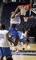 PF Samardo Samuels (Newark, NJ / St. Benedictís) slams the ball during the NBA Top 100 Camp held Thursday June 21, 2007 at the John Paul Jones arena in Charlottesville, Va. (Photo/Andrew Shurtleff)