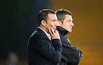 St Johnstone v Hamilton Accies...10.05.11.Derek McInnes and Tony Docherty.Picture by Graeme Hart..Copyright Perthshire Picture Agency.Tel: 01738 623350  Mobile: 07990 594431