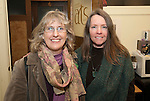 TORRINGTON, CT-022317JS11---Artists Priscilla Marshall of New Hartford and Tara O'Neill of Sharon, at the Northwest Connecticut Arts Council's Member Welcome Night at their office in Torrington. <br /> Jim Shannon Republican-American