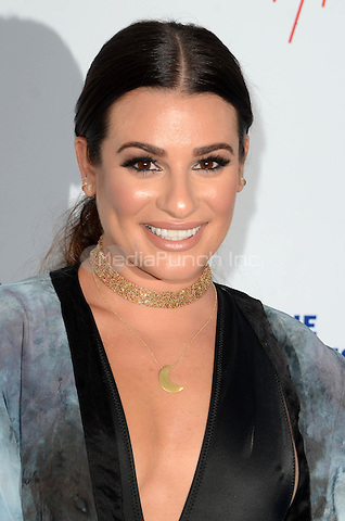 LOS ANGELES, CA - JULY 28: Lea Michele at the Los Angeles Dodgers Foundation Blue Diamond Gala at Dodger Stadium, in Los Angeles, California, on July 28, 2016. Credit: David Edwards/MediaPunch