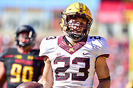 College Park, MD - OCT 15, 2016: Minnesota Golden Gophers running back Shannon Brooks (23) breaks away for a touchdown during game between Maryland and Minnesota at Capital One Field at Maryland Stadium in College Park, MD. (Photo by Phil Peters/Media Images International)