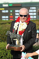 HOT SPRINGS, AR - APRIL 15: Inside Straight owner Randy Howg in the winners circle after winning the Oaklawn Handicap at Oaklawn Park on April 15, 2017 in Hot Springs, Arkansas. (Photo by Justin Manning/Eclipse Sportswire/Getty Images)