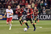 Atlanta, Georgia - Sunday, March 5, 2017: New MLS franchise, Atlanta United, played its inaugural match in front of a sold out crowd of over 55,000, at Bobby Dodd Stadium on the campus of Georgia Tech. New York Red Bulls came from behind to win 2-1.