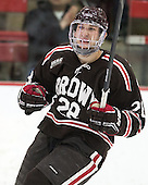 Nick Lappin (Brown - 28) - The visiting Brown University Bears defeated the Harvard University Crimson 2-0 on Saturday, February 22, 2014 at the Bright-Landry Hockey Center in Cambridge, Massachusetts.