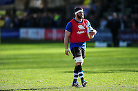 Guy Mercer of Bath Rugby looks on during the pre-match warm-up. Aviva Premiership match, between Bath Rugby and London Irish on March 5, 2016 at the Recreation Ground in Bath, England. Photo by: Patrick Khachfe / Onside Images