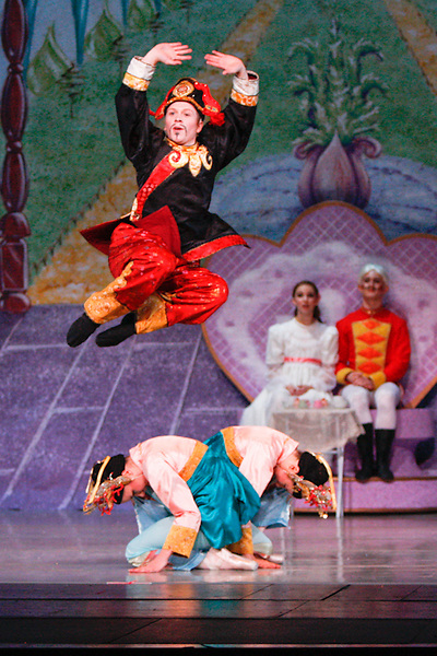 Dancers perform Nevada Ballet Theatre's production of the 'Nutcracker' at the Paris Hotel/Casino in Las Vegas, NV.