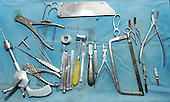 An array of surgical instruments. Royalty Free