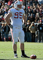 Wisconsin defensive tackle Patrick Butrym. The Wisconsin Badgers defeated the Purdue Boilermakers 34-13 at Ross-Ade Stadium, West Lafayette, Indiana on November 6, 2010.