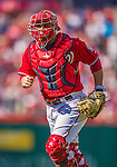 22 September 2013: Washington Nationals catcher Sandy Leon in action against the Miami Marlins at Nationals Park in Washington, DC. The Marlins defeated the Nationals 4-2 in the first game of their day/night double-header. Mandatory Credit: Ed Wolfstein Photo *** RAW (NEF) Image File Available ***