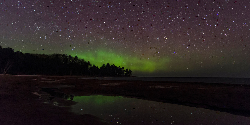 Wetmore (MI) United States  city pictures gallery : Northern Lights Reflections | Michigan Nature Photos by Greg Kretovic