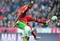 FUSSBALL   1. BUNDESLIGA  SAISON 2011/2012   19. Spieltag FC Bayern Muenchen - VfL Wolfsburg      28.01.2012 Ashkan Dejagah (li, VfL Wolfsburg) gegen Jerome Boateng (FC Bayern Muenchen)