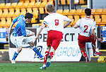 St Johnstone v Stranraer...01.11.15   Little Big Shot Youth Cup 3rd Round, McDiarmid Park, Perth<br /> George Hunter scores to make it 2-0<br /> Picture by Graeme Hart.<br /> Copyright Perthshire Picture Agency<br /> Tel: 01738 623350  Mobile: 07990 594431
