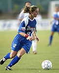 Brooke O'Hanley at SAS Stadium in Cary, North Carolina on 7/19/03 during a game between the Carolina Courage and San Diego Spirit. Carolina won the game 1-0