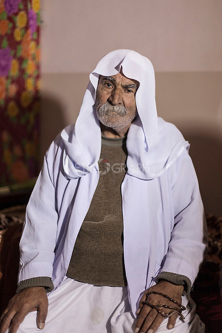 08/02/15 -- Sulaimaniyah, Iraq -- Abu Qasim, a 90 y.o. a Yazidi man from Shingal.