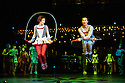 London, UK. 04.01.2014. Cirque du Soleil present QUIDAM at the Royal Albert Hall. Artists are: Norihisa Taguchi, Kata Banhegyi and House Troupe. © Jane Hobson.