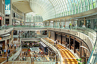 A shopping mall in the Marina Bay Sands.